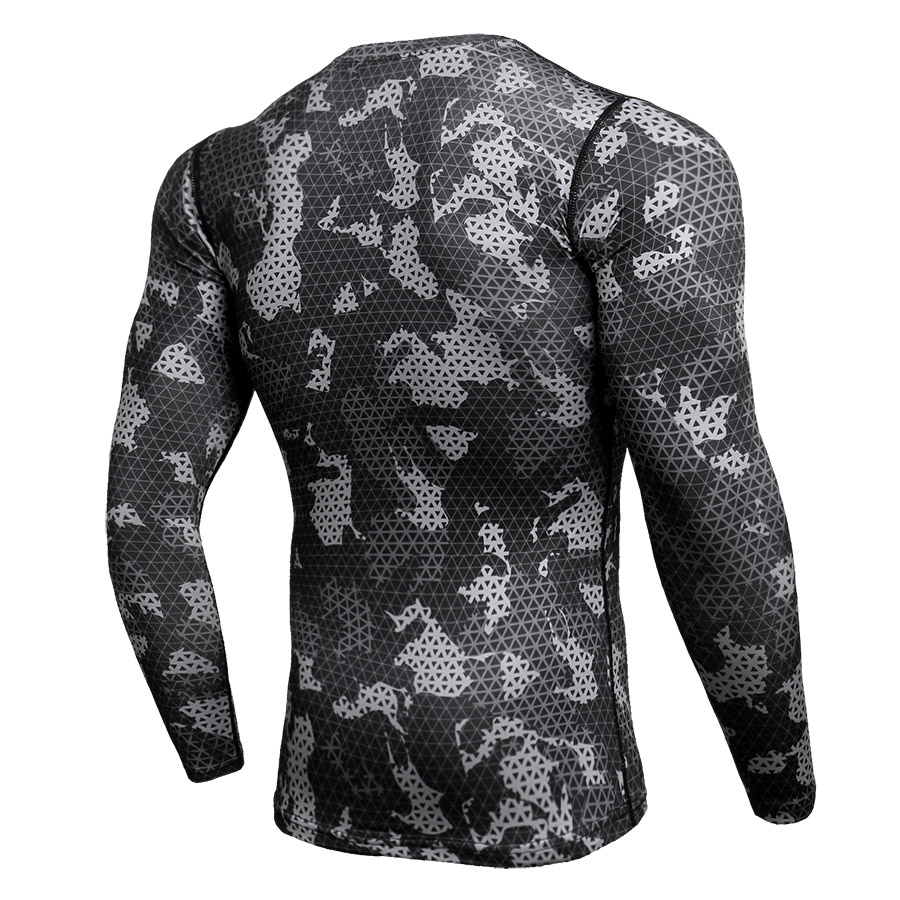 Compression Sport Shirt Men Long Sleeve Camouflage Fitness 3D Quick Dry Men's Running T-shirt Gym Workout Clothing Top Rashgard 3