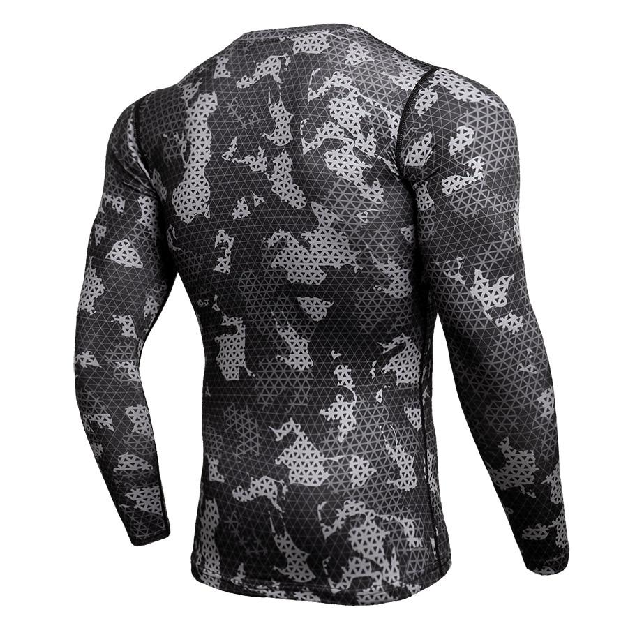 Camouflage T-Shirt Mens Running Compression Set Sport Shirt Men Rashgard Man Suits