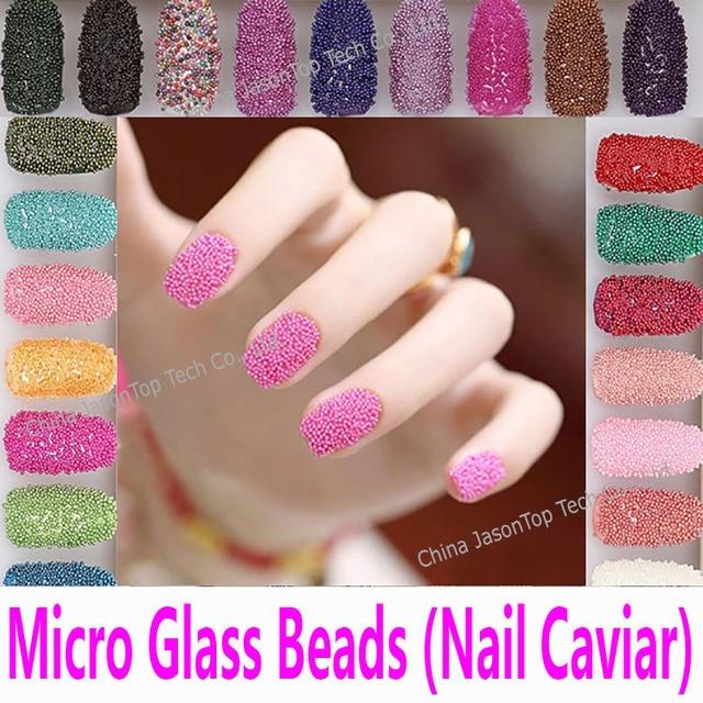 Nail Caviar In 20 Colors Micro Glass Beads 3d Nail Art Tools Nail