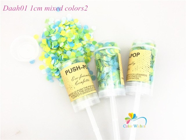 10pcs Set Wedding Push Pop Confetti Poppers For Baby Bride Shower Kid S Birthday Party Funny