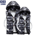 The new autumn and winter lovers cotton vest male Korean fashion camouflage hooded vest cotton men Slim comfortable vest  62