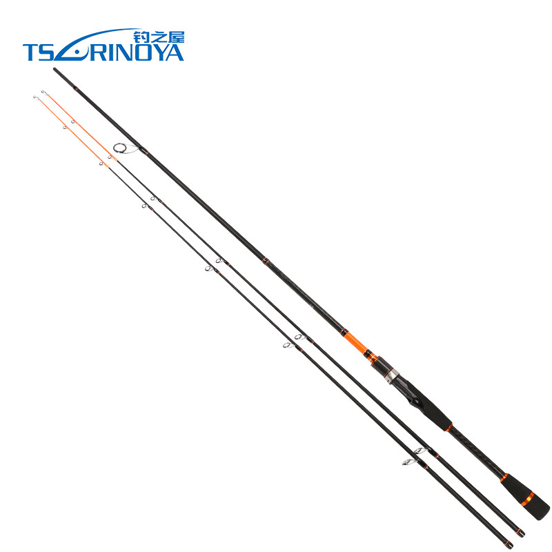 TSURINOYA JOY TOGETHER Spinning Fishing Rod 2.1m 2.4m 2 Section Carbon Fiber Lure Rod 2 Tips M/ML Spinning Rod Vara De Pesca fishing joy every day 480g