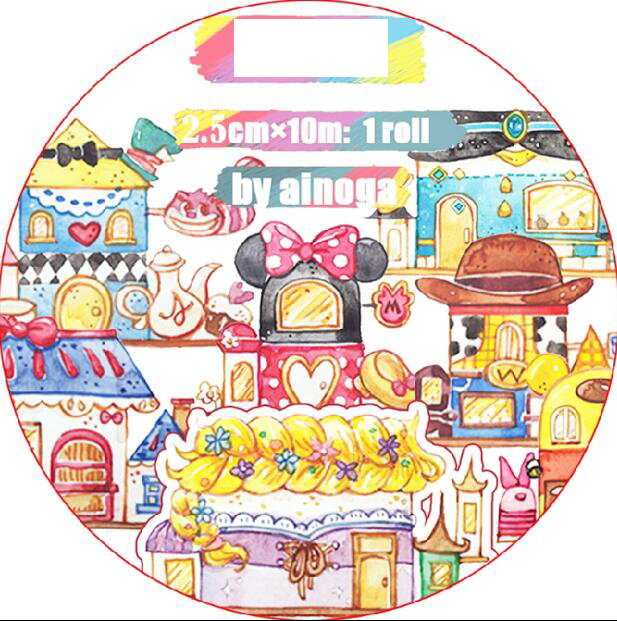 25mm wide colored kawaii Happy childhood Dream house Decoration Washi Tape DIY Planner Diary Scrapbooking Masking Tape Escolar 45mm wide cartoon character time boy decoration washi tape diy planner scrapbooking masking tape escolar