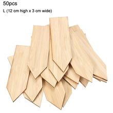 50 Pcs Bamboo Plant Labels Nursery Garden Markers T-Type Sign Tags