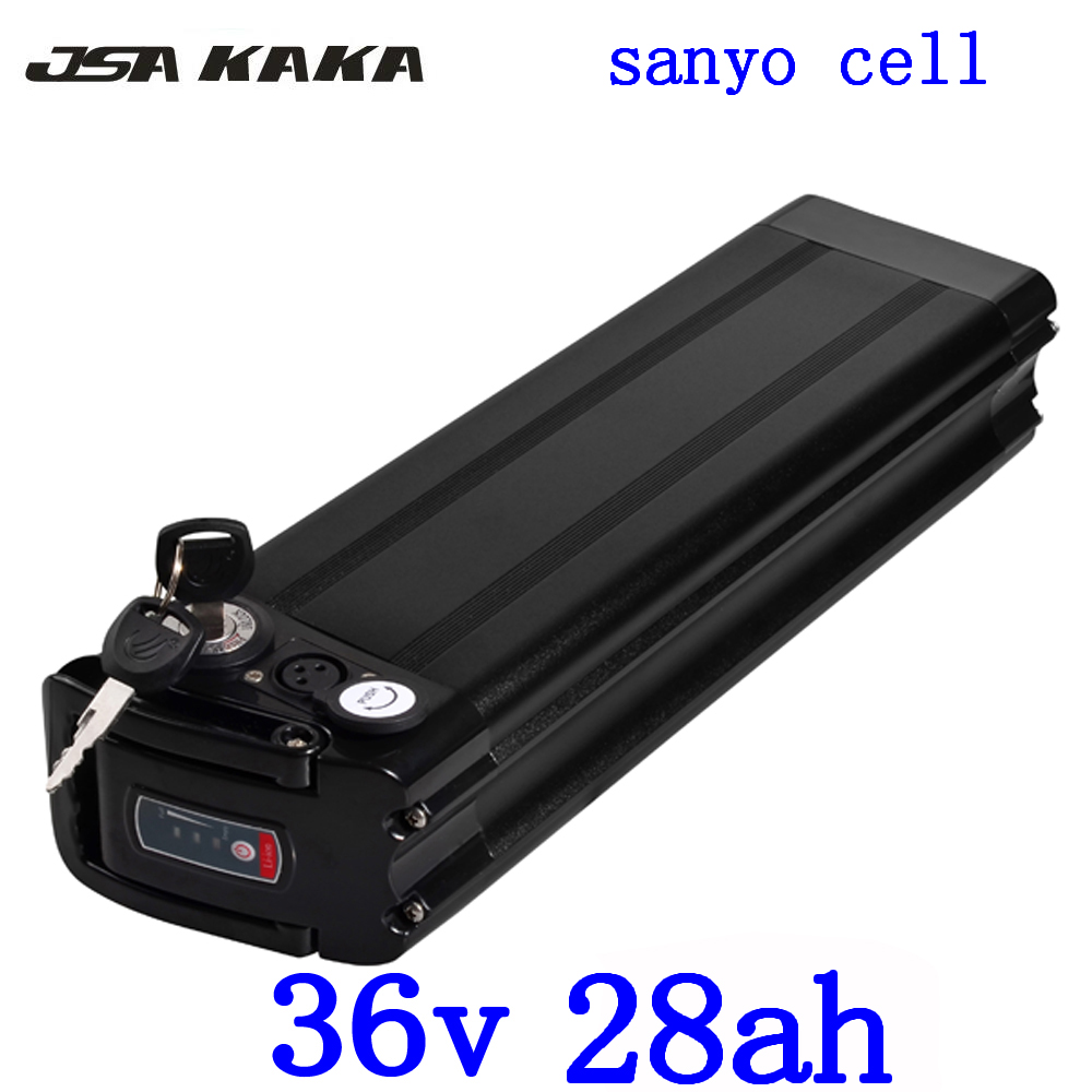1000W 36V electric bicycle 36V 28AH battery 36V 28AH Lithium battery use sanyo cell for 36V 500W 1000W motor Free Customs Duty image