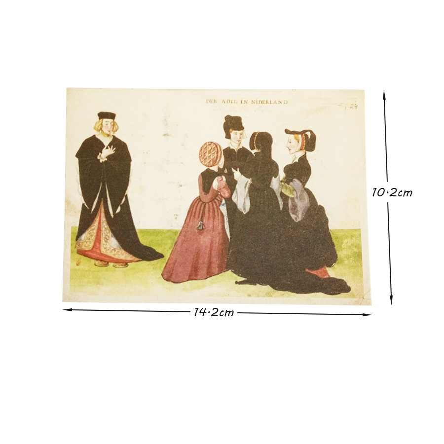 16 шт./партия, винтажная открытка древней жизни человека, поздравительная открытка Рождественская открытка, подарочные открытки на день рождения