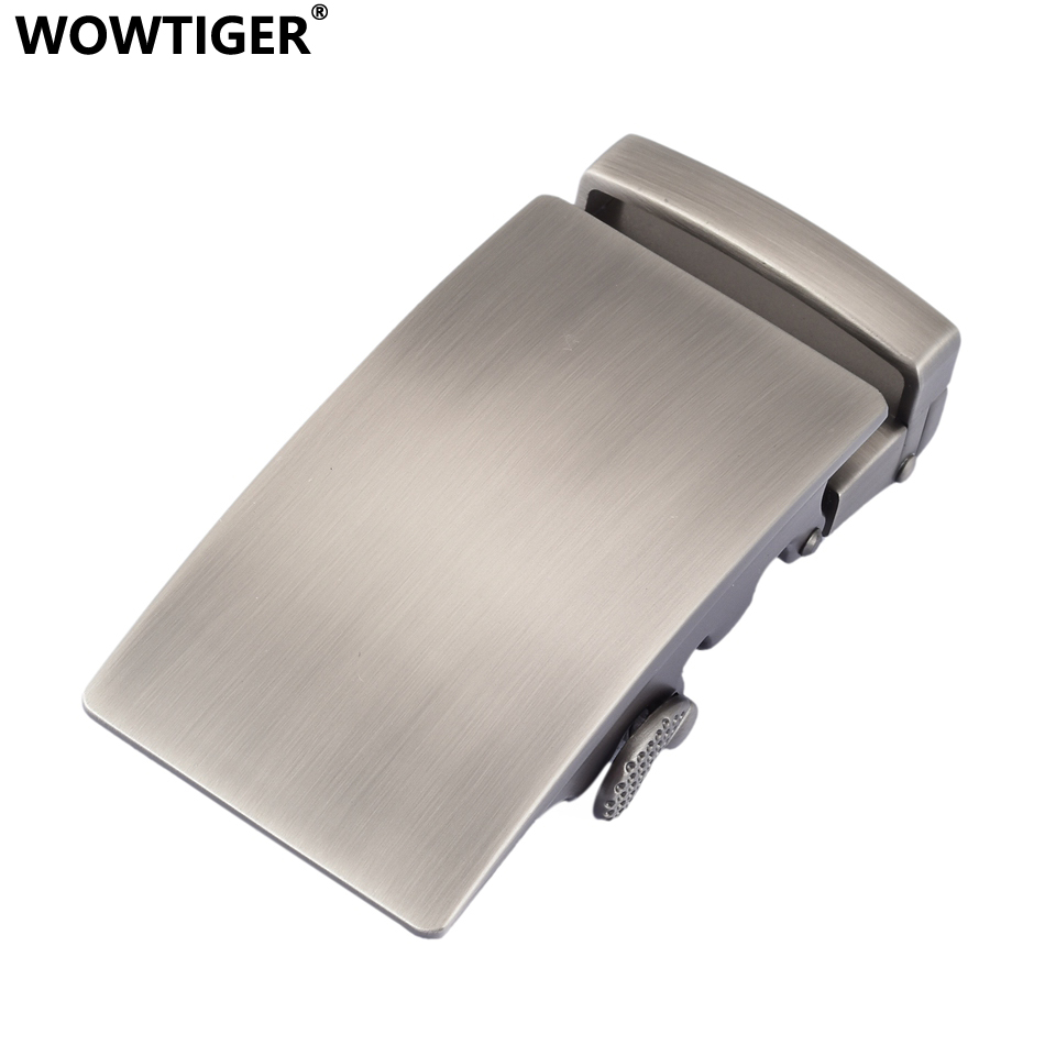 WOWTIGER Fashion Designer   Belts   High quality alloy buckle for Not   belt   body Sliding Buckle Ratchet Luxury Men Automatic buckle