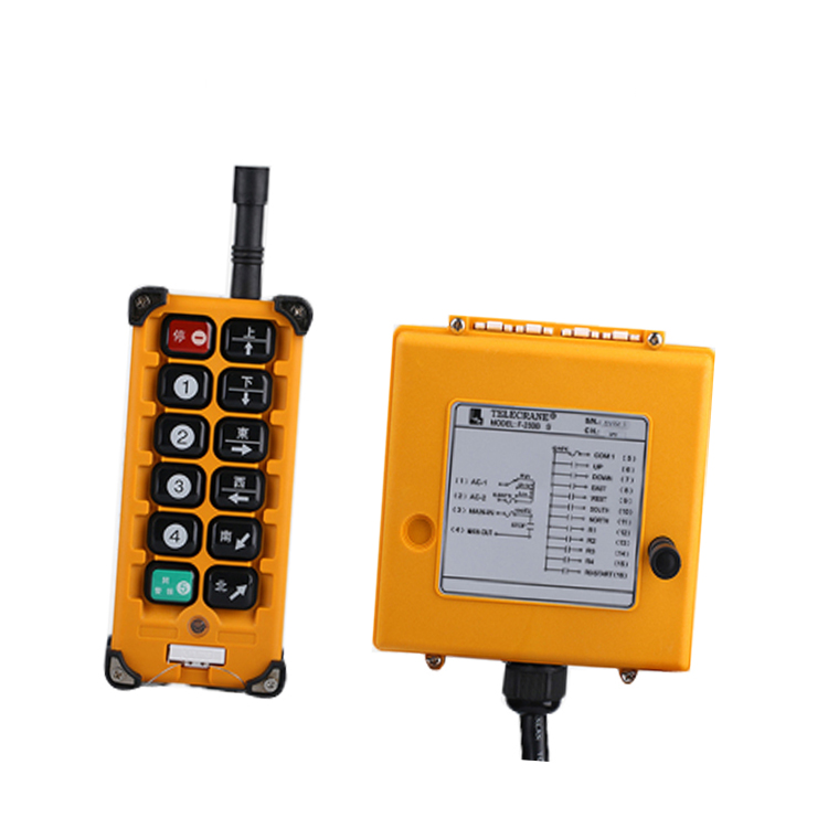 F23-BB for hoist crane 1 transmitter and 1 receiver industrial wireless redio remote control switch switches nice uting ce fcc industrial wireless radio double speed f21 4d remote control 1 transmitter 1 receiver for crane