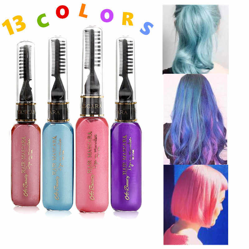 62c27affa10 13 Colors One-time Hair Color Party Hair Dye Temporary Non-toxic DIY Hair