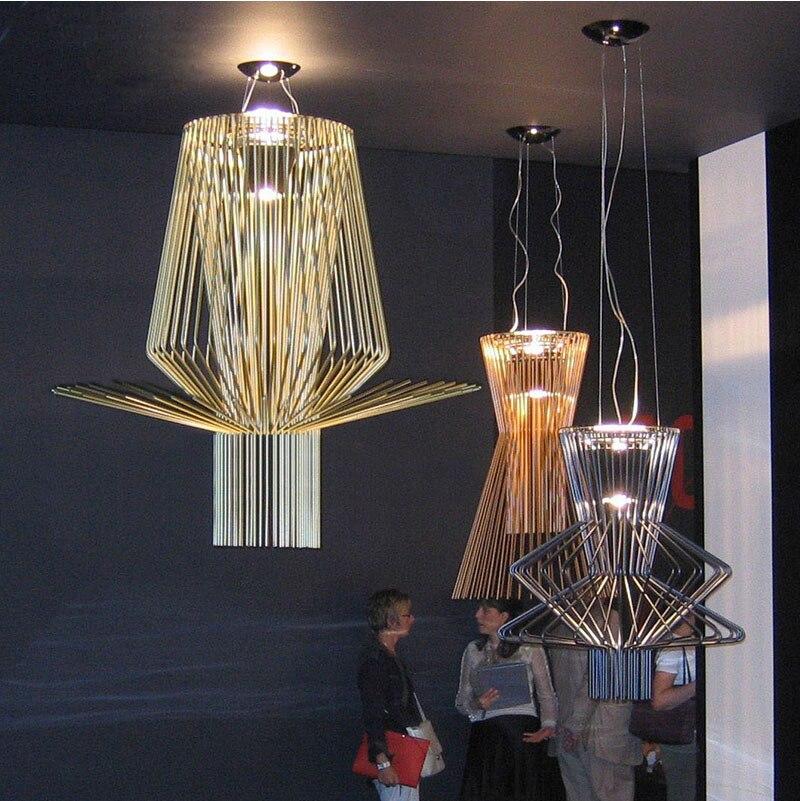Phube освещение Современные светодиодные подвесные светильники магазин одежды клуб салон подвесные светильники подвесная клеть лампа беспл
