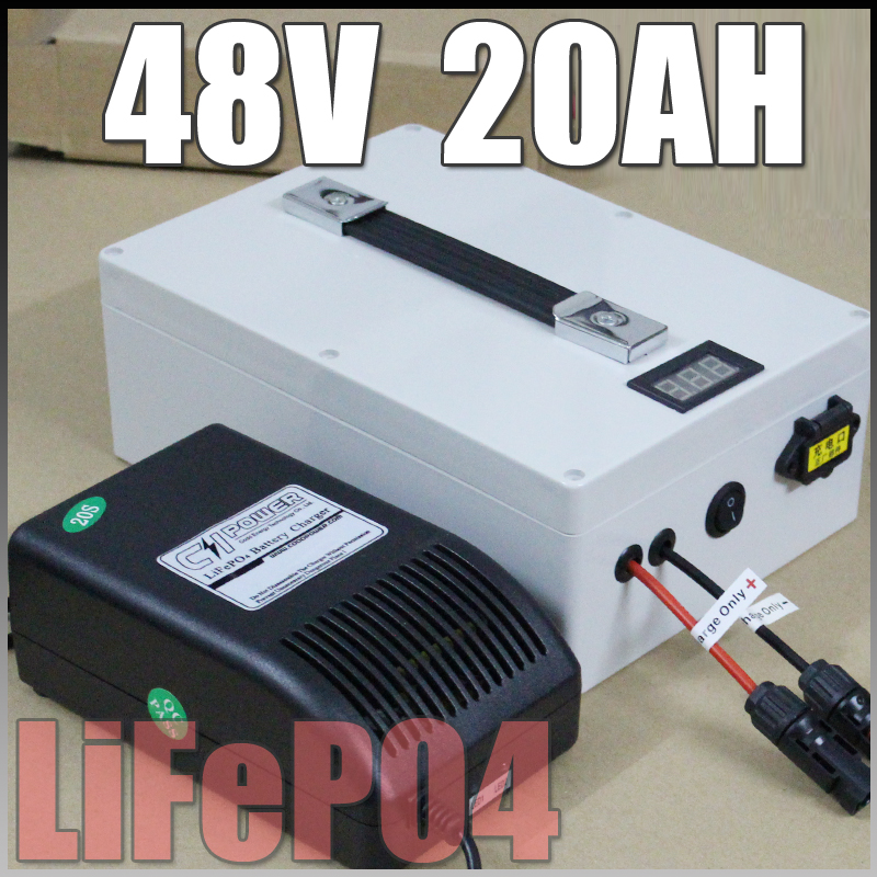 lifepo4 48v 20ah Protable battery , 1000W Electric Bicycle Battery + BMS Charger 48v lithium scooter electric bike battery pack free customs taxes high quality skyy 48 volt li ion battery pack with charger and bms for 48v 15ah lithium battery pack