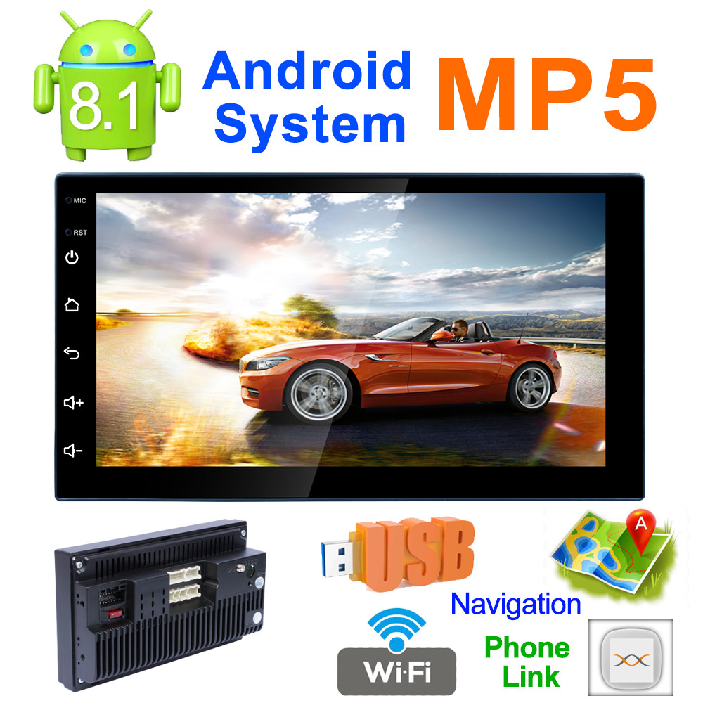 7inch Stereo Android 8 1 Car MP5 GPS Player Bluetooth AM FM Function Radio Wifi car