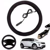 12V Auto Car Lighter Plug Heated Heating Electric Steering Wheel Covers Warmer Winter LW Universal 38cm