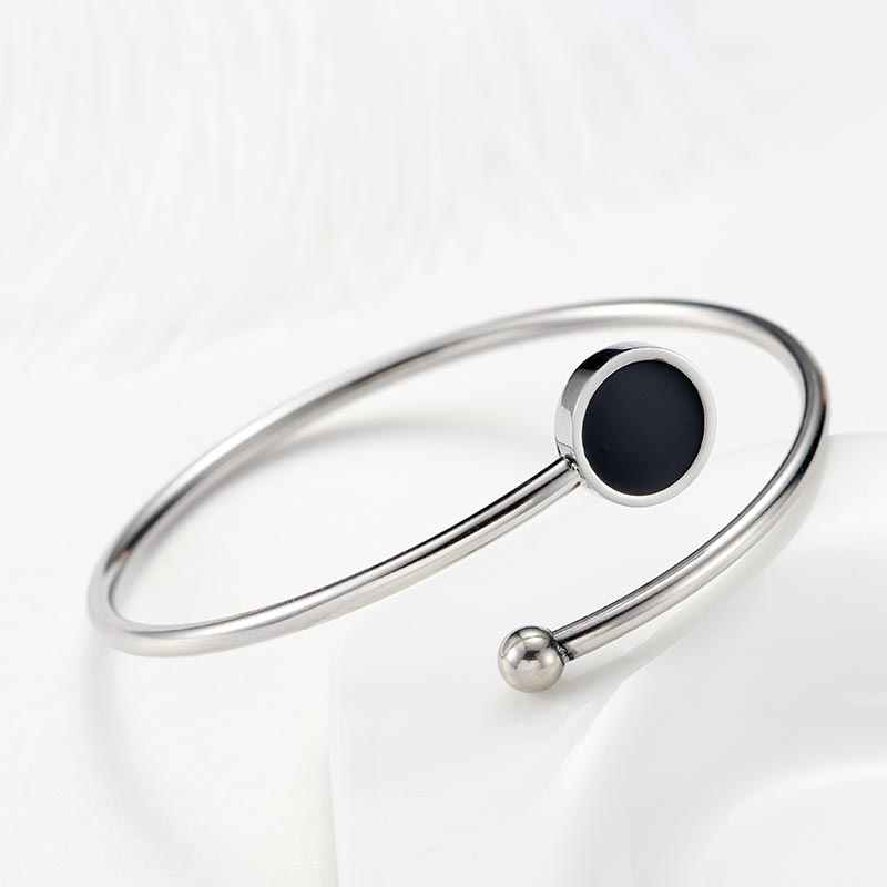 ZFVB NEW Open Cuff MOM Bracelets For Women Stainless steel Red Black Lovely Charm Bangle Fashion Jewelry Mother's Day Gifts