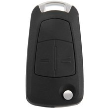 Entry Key Remote Fob Shell with Uncut Blade 2 Buttons for Vauxhall Opel Vectra Replacement for Broken / Worn Key Blade for Auto