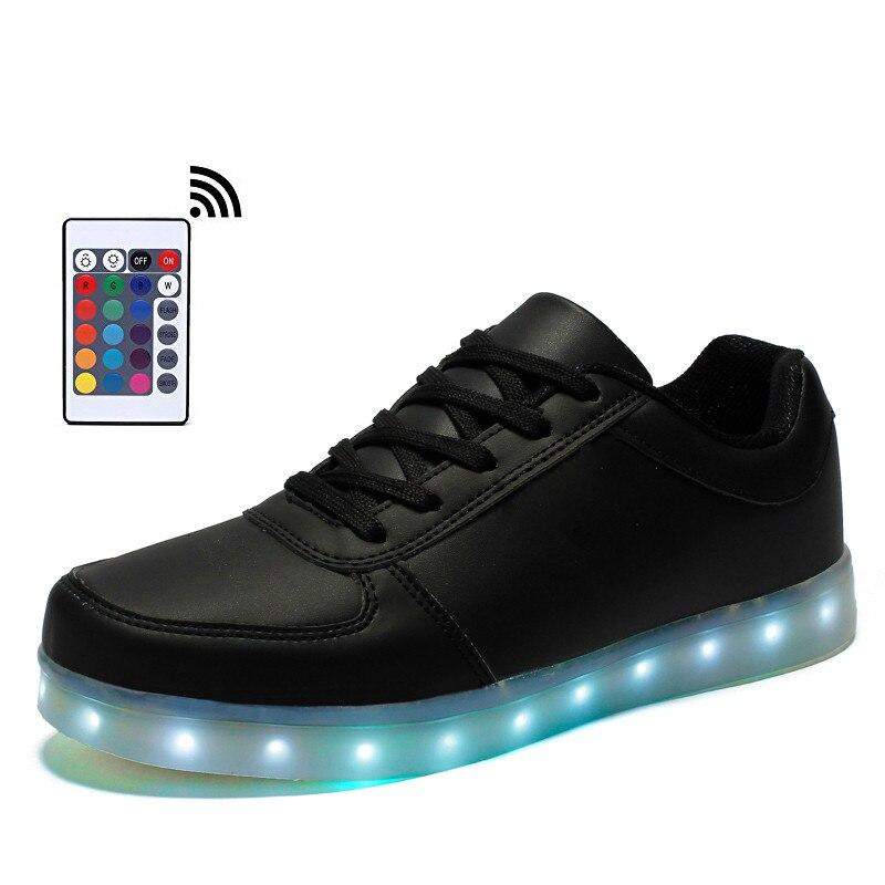 Zapatos de Los Hombres Luminosos de Led de Control remoto Luces Zapatos Hombres