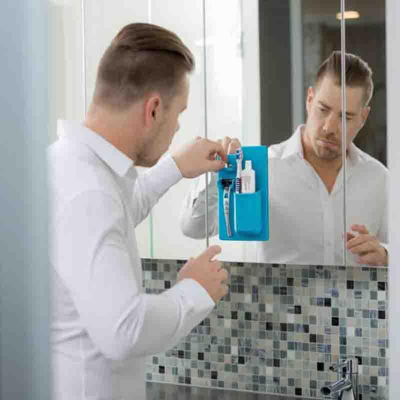 Room Silica Gel Toothbrush Holder Razor Bracket Toilet Bathing Holder Goods Furniture Supplies 3 Colours