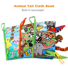 New Early Education Puzzle Cloth 3D Baby Book 0-3 Years Toys with Animals Tails Soft Cloth Development Books