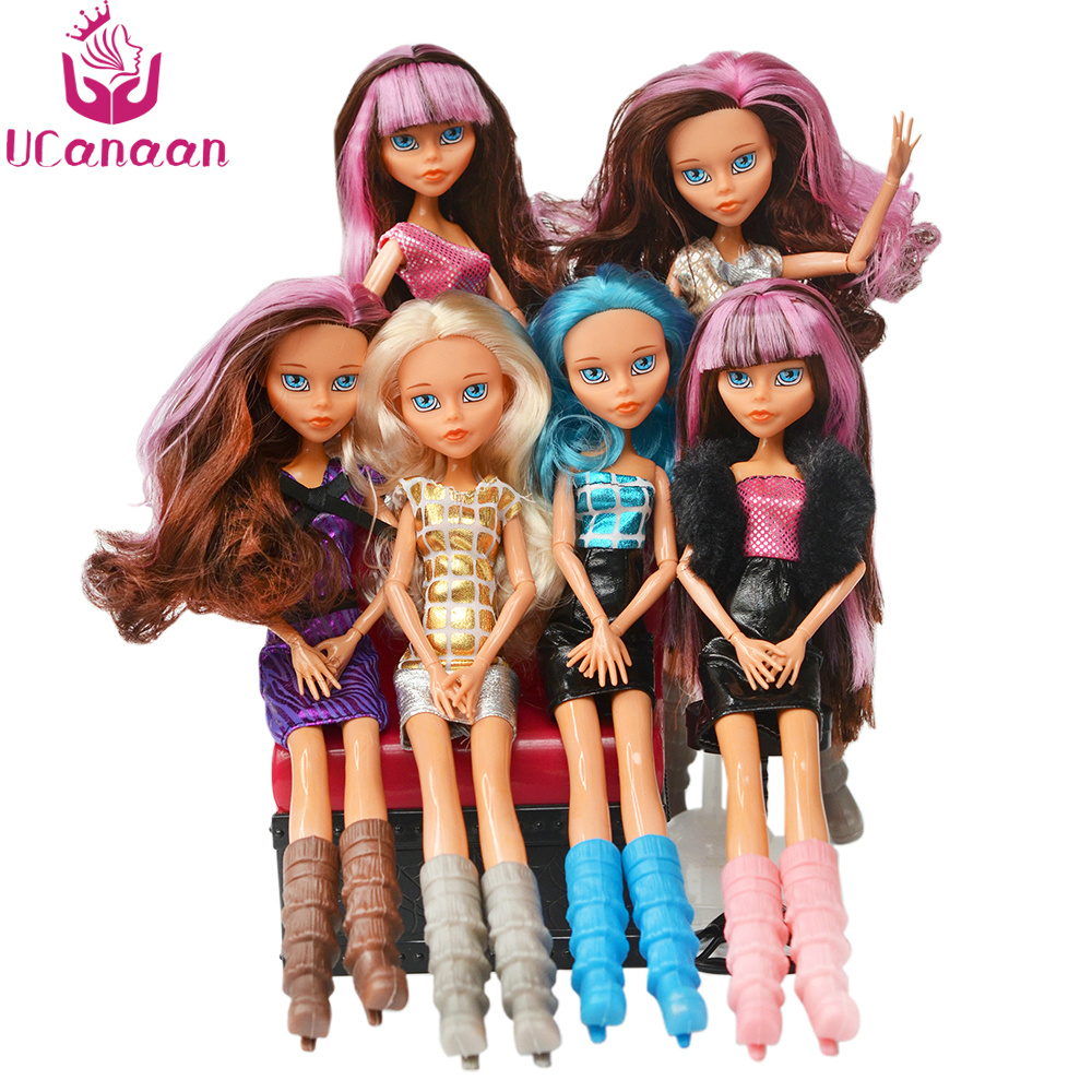 UCanaan 1 PC Fashion Monstr Doll High Quality Moving joint Body for babie doll accessories doll reborn baby toys gift for girl original monstr high love s not dead ghoulia yelps