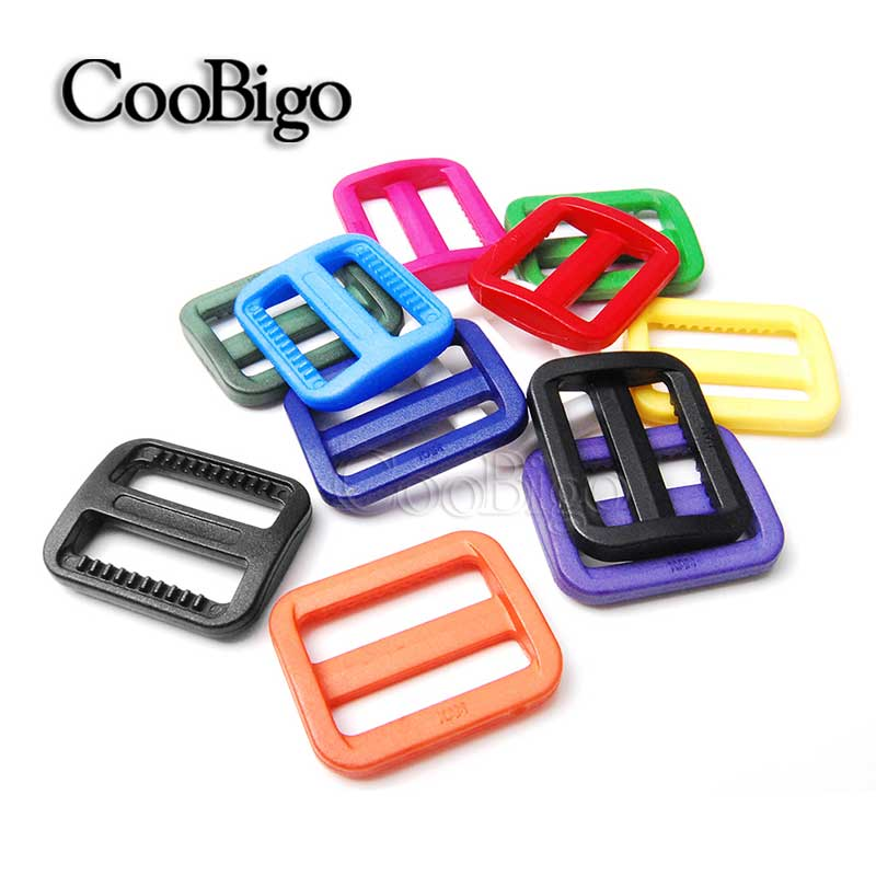 25mm plastic Adjustable Slider Tri-glides Buckle Backpack Webbing Moll Tactical Bag Parts To Produce An Effect Toward Clear Vision Tireless 25pcs Mix Colors 1