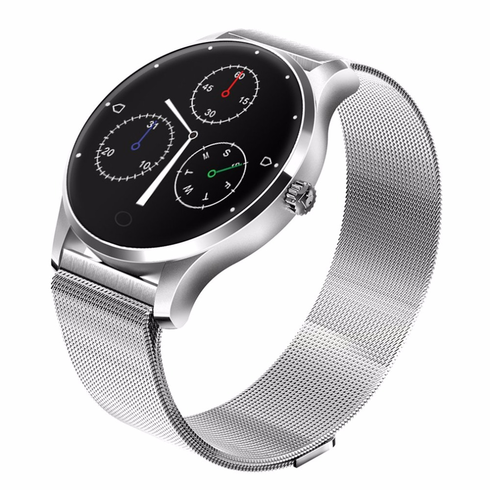 Bluetooth 4.0 Fashion Smart Watch Ultra Thin Mesh Belt Stainless Steel Wristwatch 1.22inch IPS Screen Smart Watch Women Android shifenmei 2136 ultra thin smart steel band watch