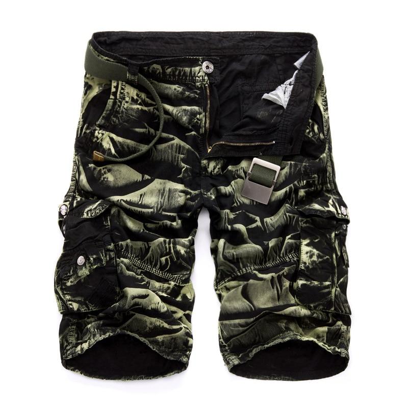Militär Last Shorts Män Sommar Camouflage Ren Cotton Brand Kläder - Herrkläder - Foto 3