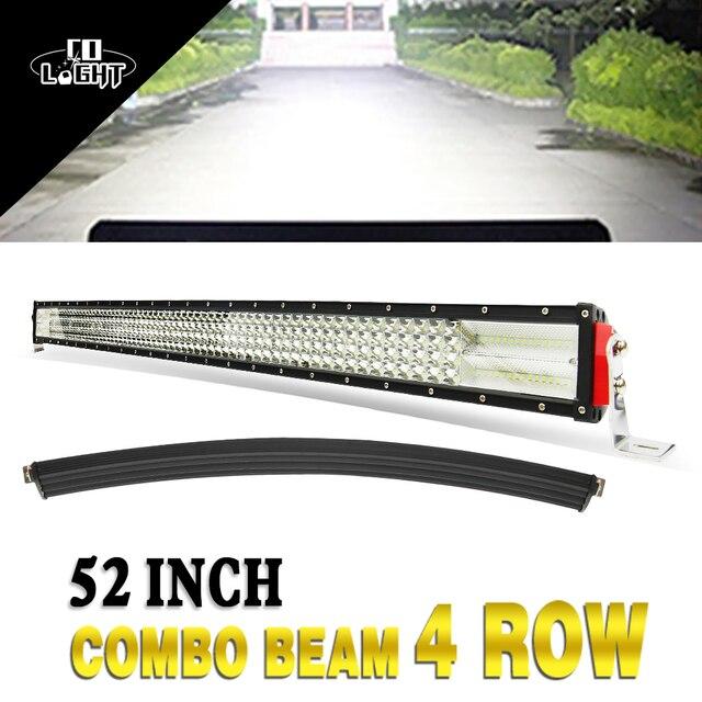 """CO LIGHT 8D 52"""" Curved LED Light Bar 924W Led 12V 24V Work Light Bar Combo Auto Offroad Work Light for ATV 4x4 4WD Truck Trailer"""