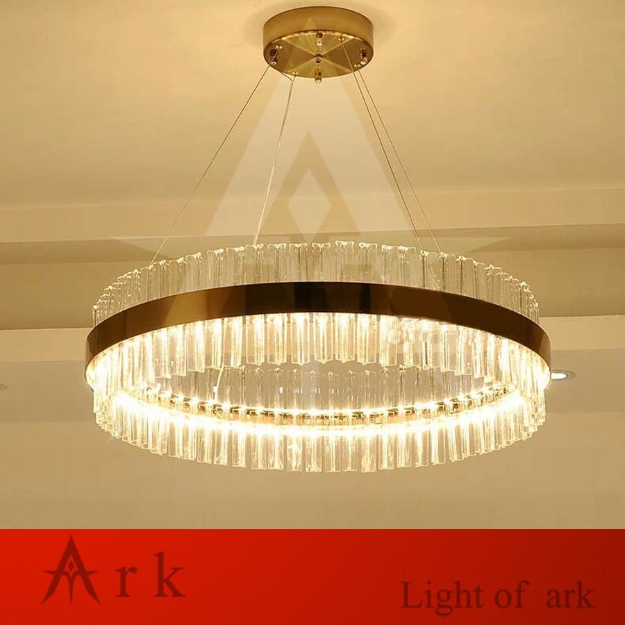 Postmodern crystal Ring shape LED Pendant Lights Dining Room Restaurant Coffee Bedroom hang Lighting