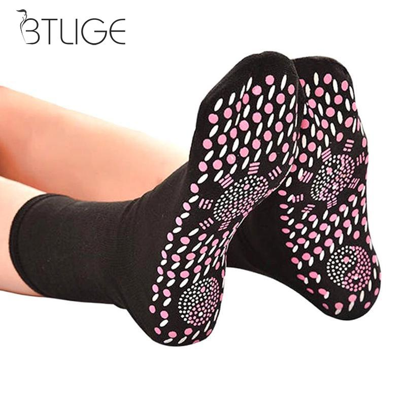 Winter Thermal Socks Men Winter Help Warm Cold Feet Comfort Health Heated Socks Magnetic Therapy Comfortable