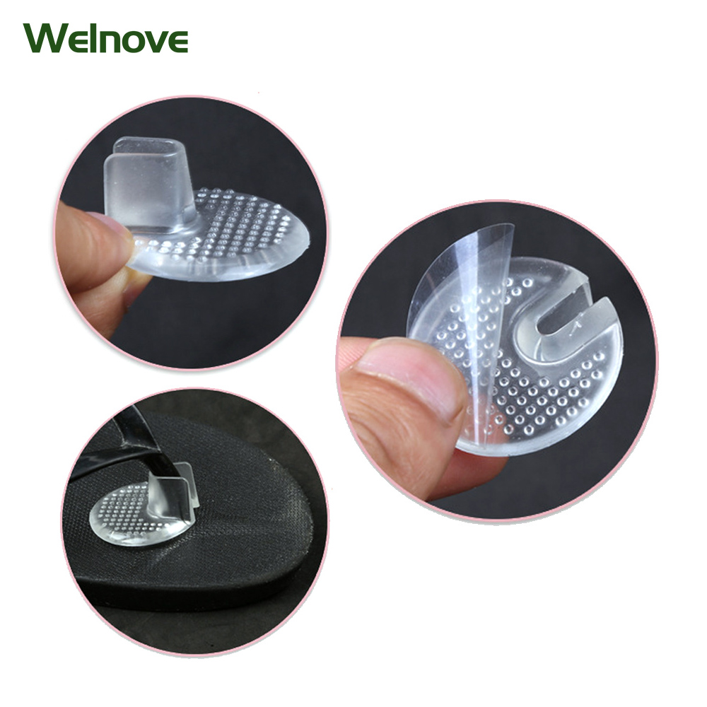1 Pair Insoles Invisible Silicone Sandals Slip Resistant Pads Soft Forefoot Pad