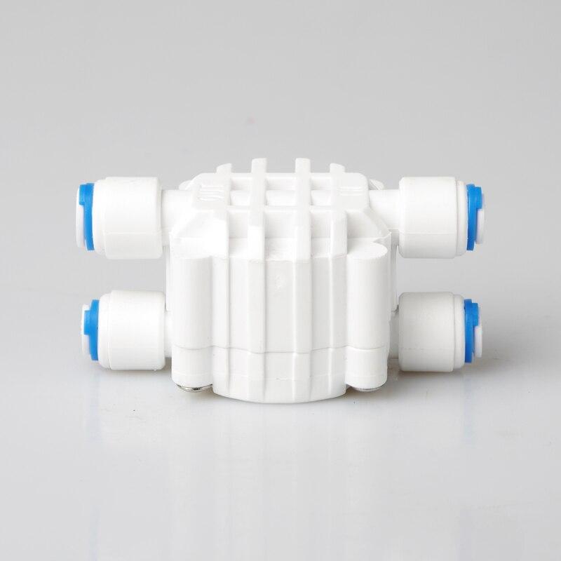 Water Filter Parts 1/4 OD tube Auto Shut Off 4 Way Valve  Pressure Regulator Aquarium Water purifier  Reverse Osmosis machine