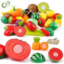 Пластиковая кухонная еда фрукты овощи резка дети ролевые игры обучающая игрушка безопасность дети кухонные игрушки Наборы GYH