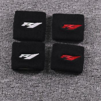 RED / WHITE Motorcycle 3D R1 Front Brake Fluid Oil Reservoir Cover Protector For Yamaha YZF R1 1000 YZF-R1 YZFR1 Reservoir Sock red white motorcycle 3d r1 front brake fluid oil reservoir cover protector for yamaha yzf r1 1000 yzf r1 yzfr1 reservoir sock