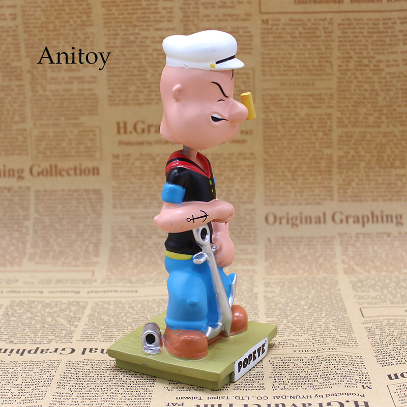 Image 2 - Popeye The Sailor Man Wacky Wobbler Bobble Head PVC Action Figure Collection Toy Doll 17CM with Retail BoxAction & Toy Figures   -