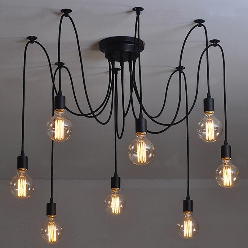 Amerykańskie lampy sufitowe vintage do salonu sypialnia przemysłowe czarne lamparas de techo oprawy oświetleniowe nowoczesna lampa sufitowa
