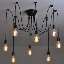 Американский потолочные светильники Винтаж для гостиной спальня промышленных черный lamparas де techo освещение современный