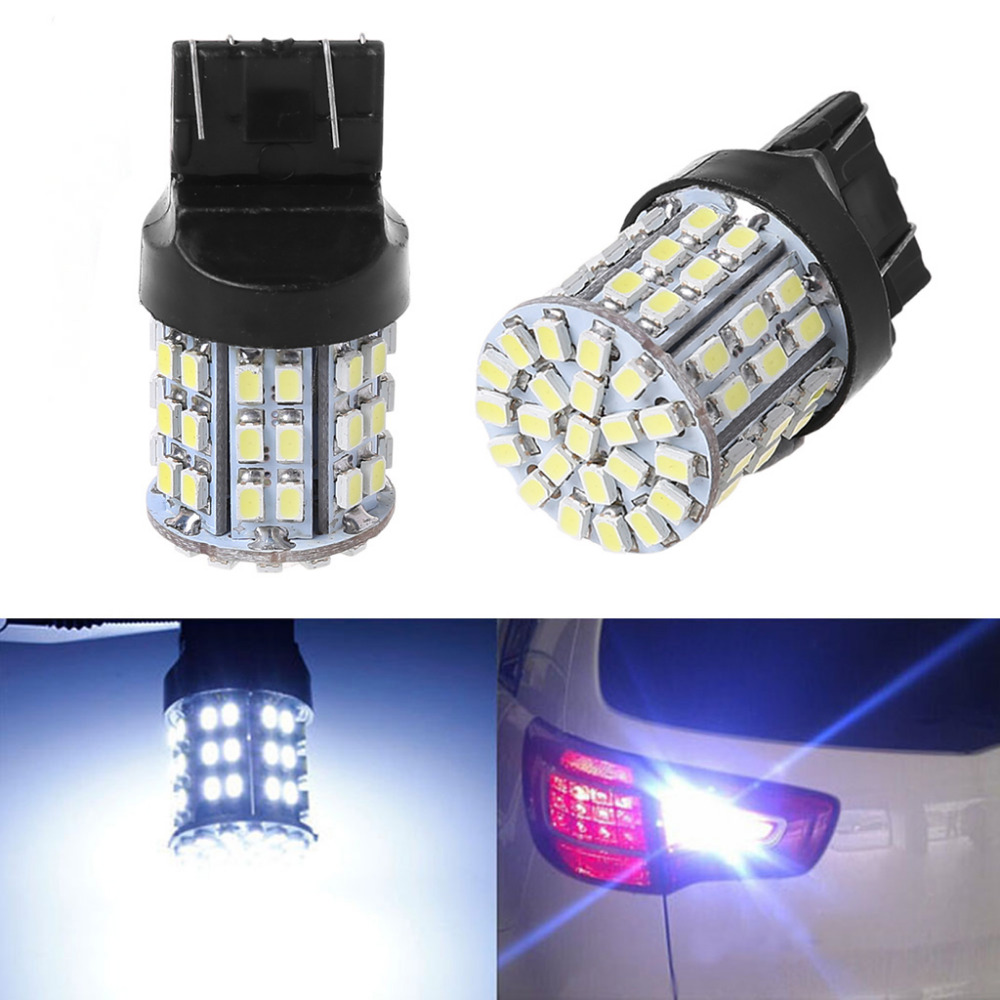W21//5W 7443 Xenon LED 9-SMD 1210 Stop Tail Indicator Car Light Bulbs GREEN