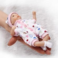 8 20cm Mini Palm little doll Silicone Vinyl Reborn Dolls Babies Lifelike Real Baby Doll Bebe Reborn Girl Boy Brinquedos bonecas hot 57cm full silicone body reborn babies dolls girls bath lifelike real vinyl bebe brinquedos reborn bonecas