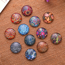 50Pcs Mixed Multicolor Patterns Round Glass Cabochons Dome Seals Cameos Embellishments Crafts Making 8mm