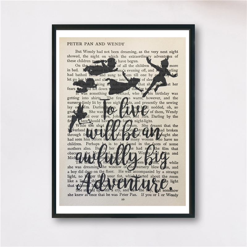 Us 5 7 5 Off Quotes Peter Pan Vintage Book Wall Art Canvas Posters Prints Painting Wall Pictures For Bedroom Modern Home Decor Accessories Hd In