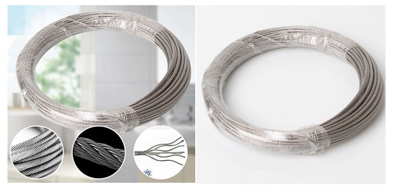 KöStlich Neue L20m D1.5mm 7x7 Ketten 304 Edelstahl Drahtseil Weiches Seil Wäscheleine In Den Spezifikationen VervollstäNdigen