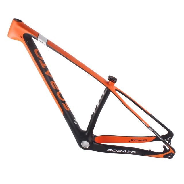 e0578a0f7 SOBATO xc mountain bike quadro 29er hardtail mtb passeio livre cross  country MTB Quadro MCA