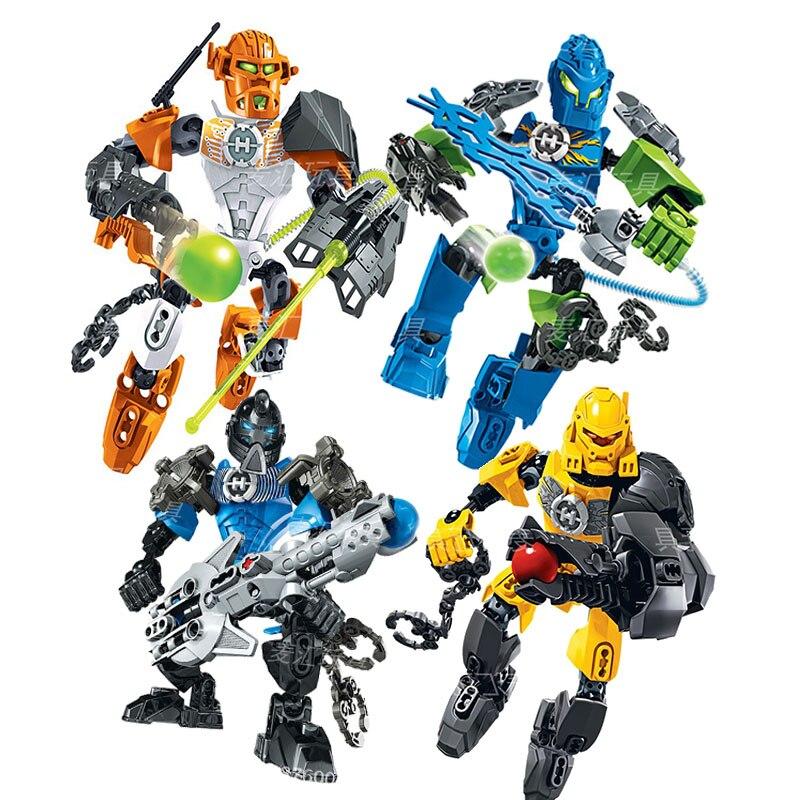 Hero Factory 6 Série Nex Stringer Evo Surge Marines Figuras Brinquedos de Blocos de Construção Tijolos Brinquedos