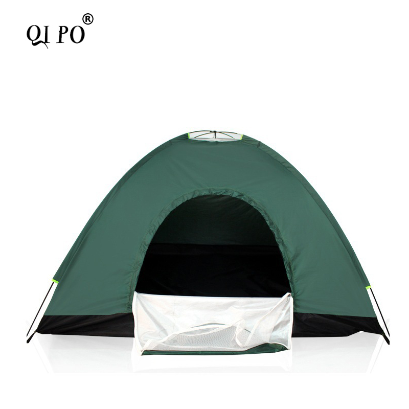 QIPOpop up 1-2 Person Tents Camping Tent Automatic Summer Tents Outdoor windproof Tent outdoor camping hiking automatic camping tent 4person double layer family tent sun shelter gazebo beach tent awning tourist tent