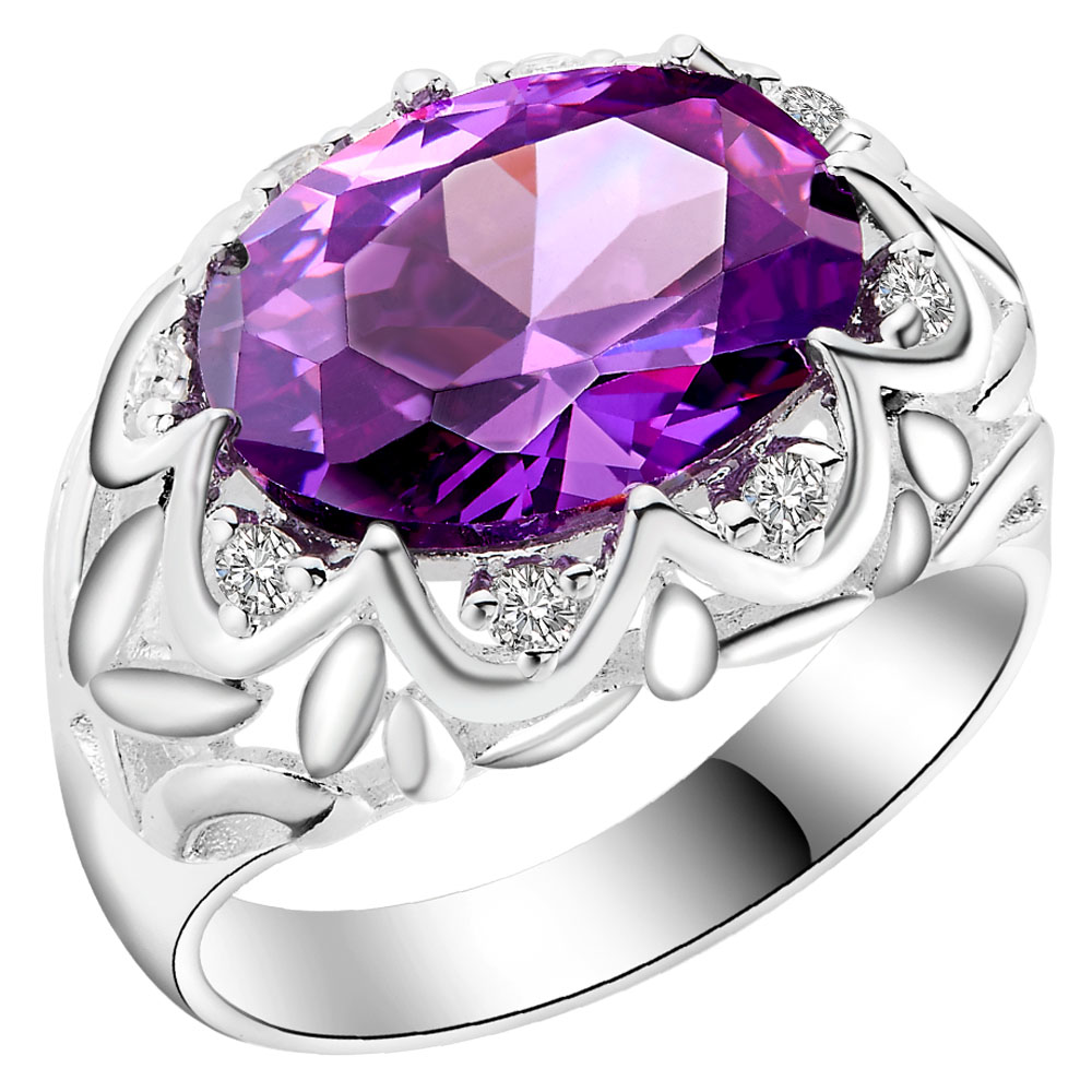 Big Cheap Wedding Rings: 2016 Cheap Silver Rings For Wedding Flower Engagement Gift