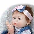22 дюймов reborn куклы игрушки реалистичные мягкий силиконовый виниловые куклы девушки реальные нежное прикосновение куклы игрушки творческий подарок детям bonecas