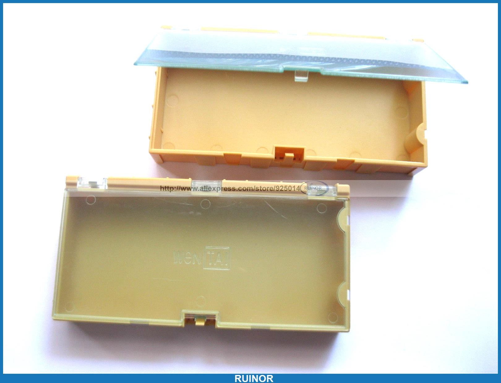 12 Pcs SMD SMT Electronic Component Storage Box Yellow 12 pcs smd smt electronic component storage box yellow