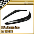 New Front Bumper Canard For Nissan R35 GTR Carbon Fiber AS Style Car Accessories Racing