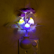 Colorful mushroom light plug