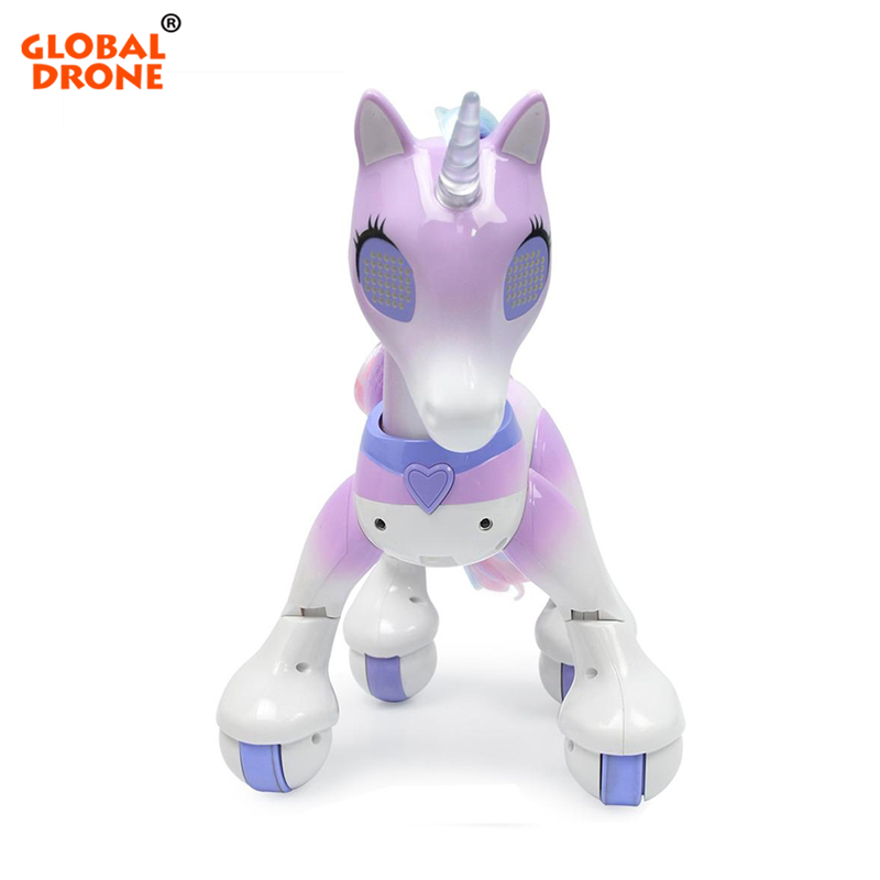 Global Drone Remote Control Unicorn Horse RC Robot Interactive Toy Birthday Gifts Christmas Present Educational Toy for Children robot unicorn sound control interactive unicorn electronic toys plush pet unicorn toy walk talk toys for children birthday gifts
